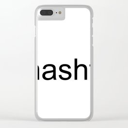 #hashtag Clear iPhone Case