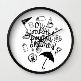 Oy Wall Clock