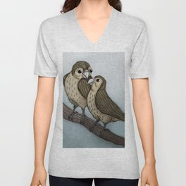 Love sparrows Unisex V-Neck