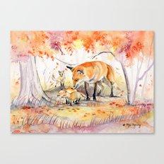 My Garden in Autumn Canvas Print