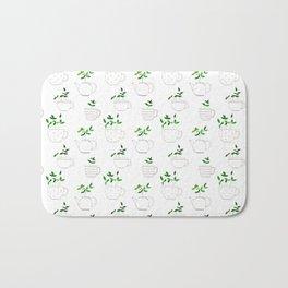 Tea plants in tea cups Bath Mat
