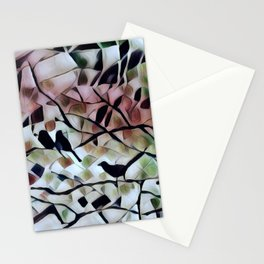Absract Birds in a Tree Stationery Cards