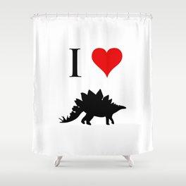I Love Dinosaurs - Stegosaurus Shower Curtain