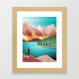 DREAM VACATION / Alberta, Canada Framed Art Print