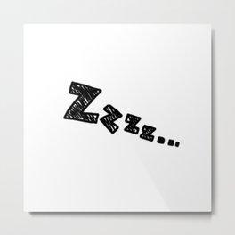 Zzzz... Metal Print