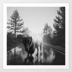 Street Walker III Art Print