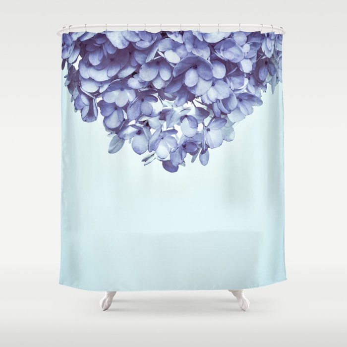 Fl Fringe French Blue Shower Curtain By Galeswitzer