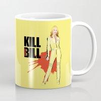 kill bill Mugs featuring Kill Vampire Bill by AriesNamarie