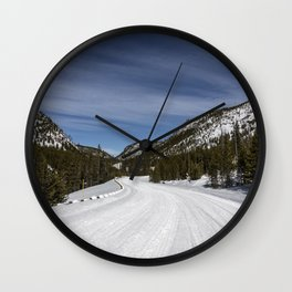 Carol Highsmith - Snow Covered Road Wall Clock