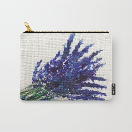 Fresh Cut Lavender Watercolors On Paper Carry-All Pouch