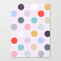 polka dots Canvas Prints featuring Polka Dots by Color & Theory