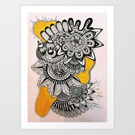 BLK+YLO Art Print
