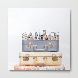 Travel Luggage Metal Print