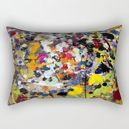 Palette. In the original sense of the word. Rectangular Pillow