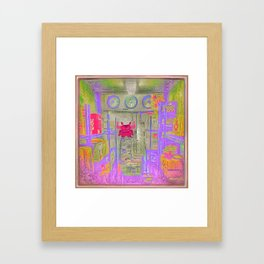 Monster in the Fridge Framed Art Print