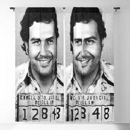 Pablo Escobar Mug Shot Blackout Curtain
