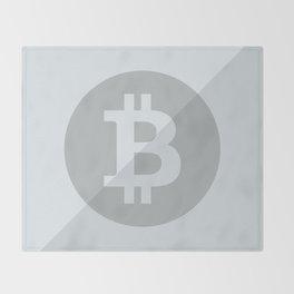 Bitcoin Silver Coin Throw Blanket