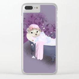 Bubble Bath Joy Clear iPhone Case