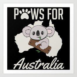 Paws For Australia Bushfire Support Help Art Print