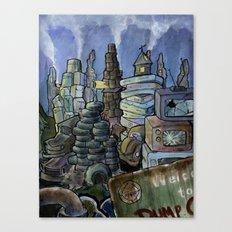Dump City Canvas Print