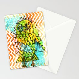 Oslauf the Owl - multicolored Stationery Cards
