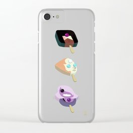 Icy Gems Clear iPhone Case