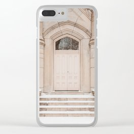 Water Tower Snow Day Clear iPhone Case