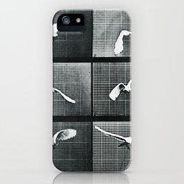 Time Lapse Motion Study Bird Monochrome iPhone Case