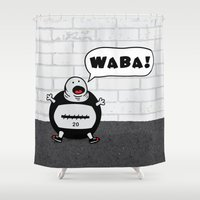 crossfit Shower Curtains featuring WABA! by khalan