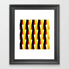 Droplet pattern - black, yellow, red Framed Art Print