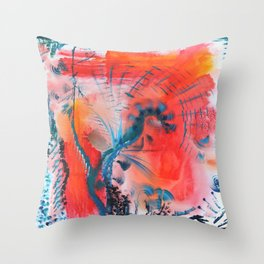 Joyous Lines Throw Pillow