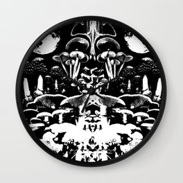 Moonmadness Wall Clock