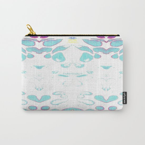 Summer Vibes, Blue and Purple Neon Leaves Carry-All Pouch