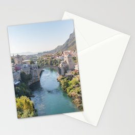Old Town and Bridge in Mostar, Bosnia and Herzegovina Stationery Cards