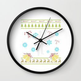 Auto Mechanic Christmas Sweater Custom Christmas Shirt Wall Clock