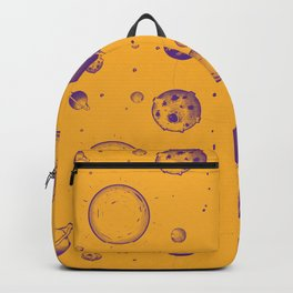 Orange and purple planetary, space rocks and energy! Backpack