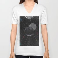 universe V-neck T-shirts featuring Universe by jrteerayut