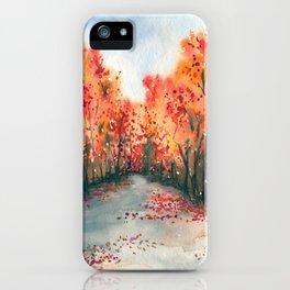 Autumn Journey iPhone Case