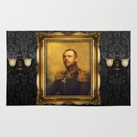 replaceface Area & Throw Rugs featuring Simon Pegg - replaceface by replaceface