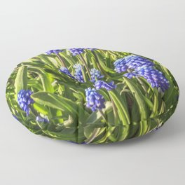 Grape hyacinths muscari Floor Pillow