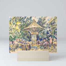 "Paul Signac ""Village Festival"" Mini Art Print"