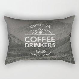 Outdoor Coffee Drinkers Club Rectangular Pillow