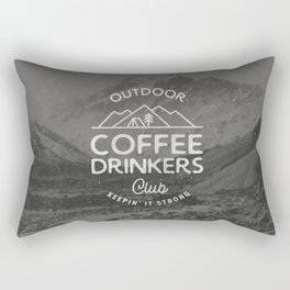 Outdoor Coffee Drinkers Club Rectangular Pillow