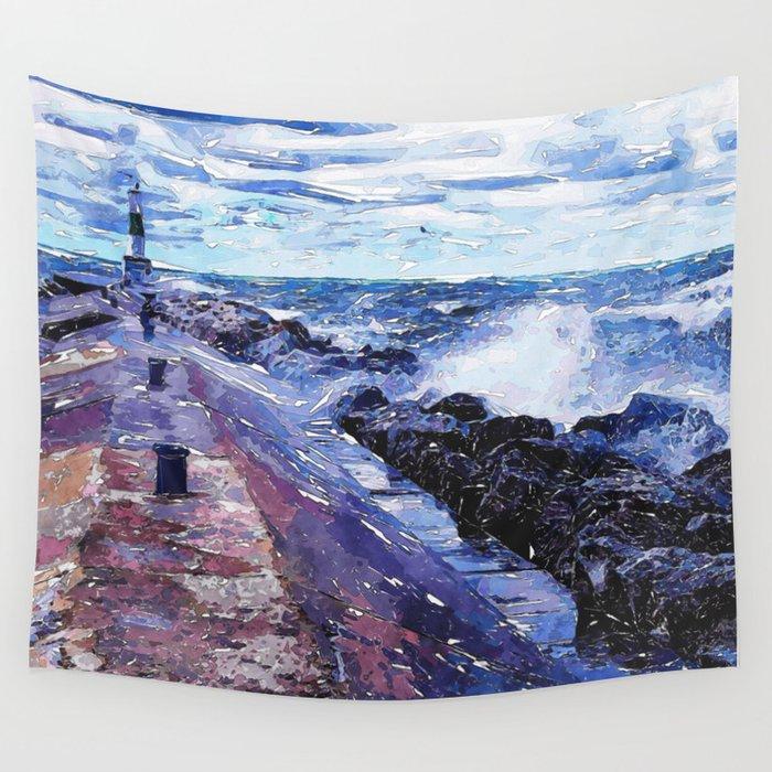 Lake Michigan Waves Wall Tapestry