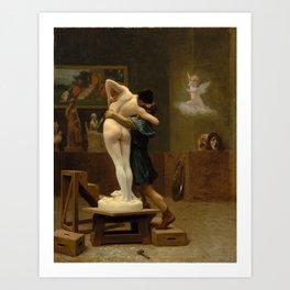 Pygmalion and Galatea by Jean-Leon Gerome Art Print