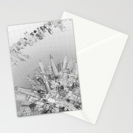 Future City Light Stationery Cards