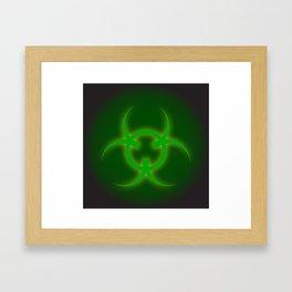 Bio Hazard Sign Framed Art Print