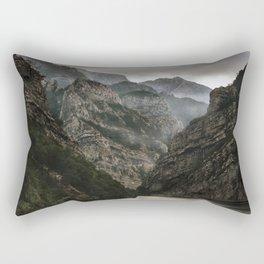 Foggy mountains over Neretva gorge Rectangular Pillow