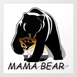 Mama Bear Bear Art Print