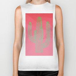 Deserted cactus - chevron pink Biker Tank